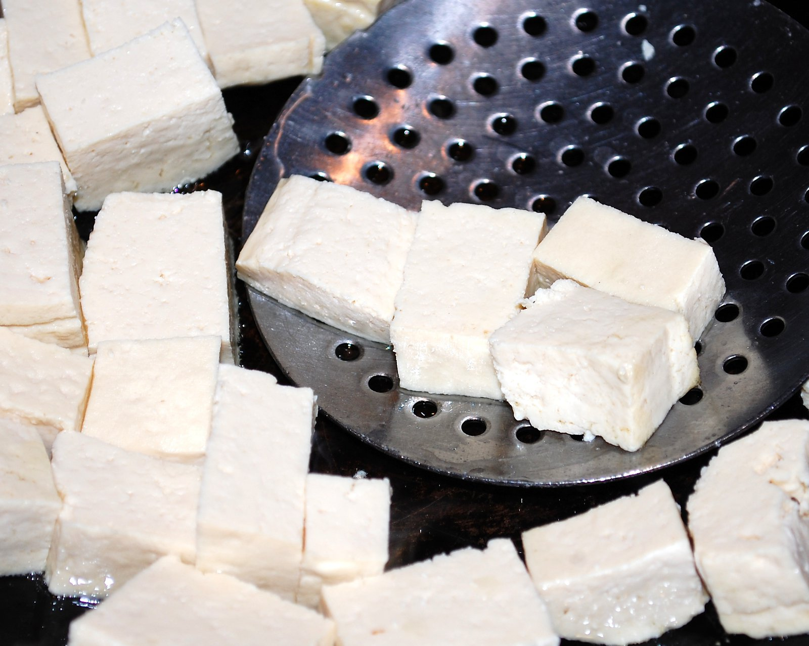 Stir Fry The Tofu Cubes