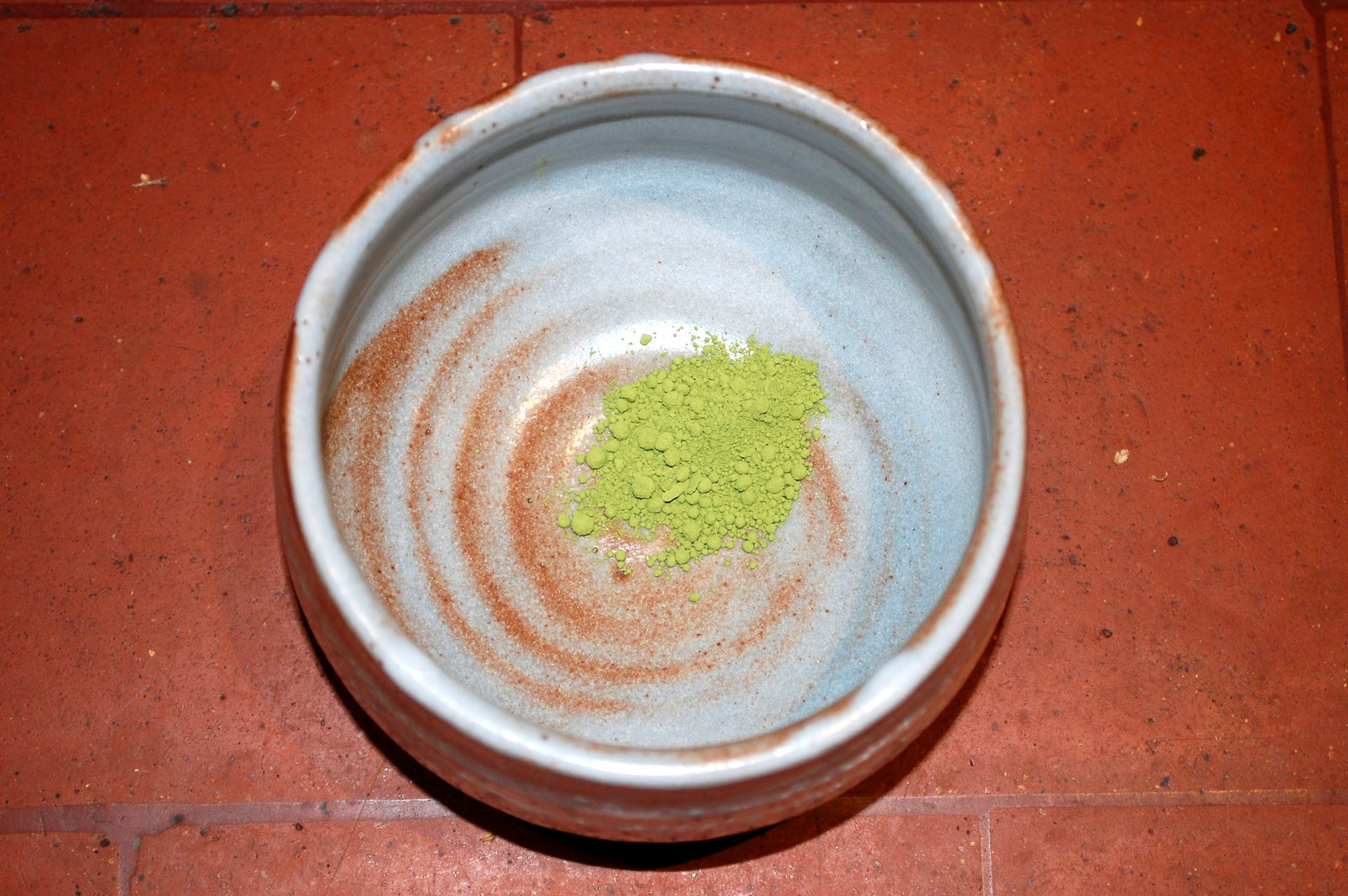 Place The Matcha Tea Into The Tea Bowl
