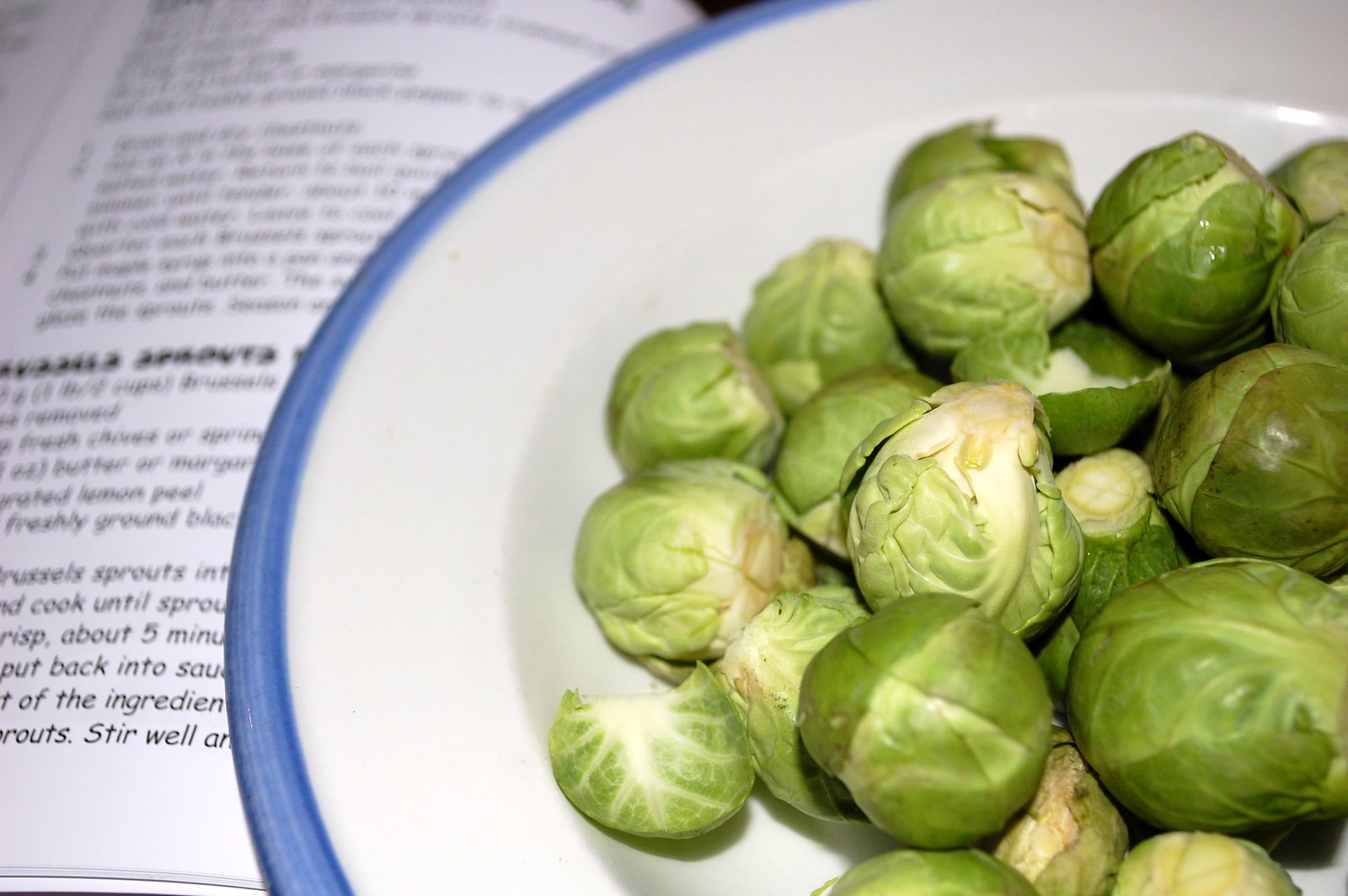 Brussels Sprouts Ready For Cooking