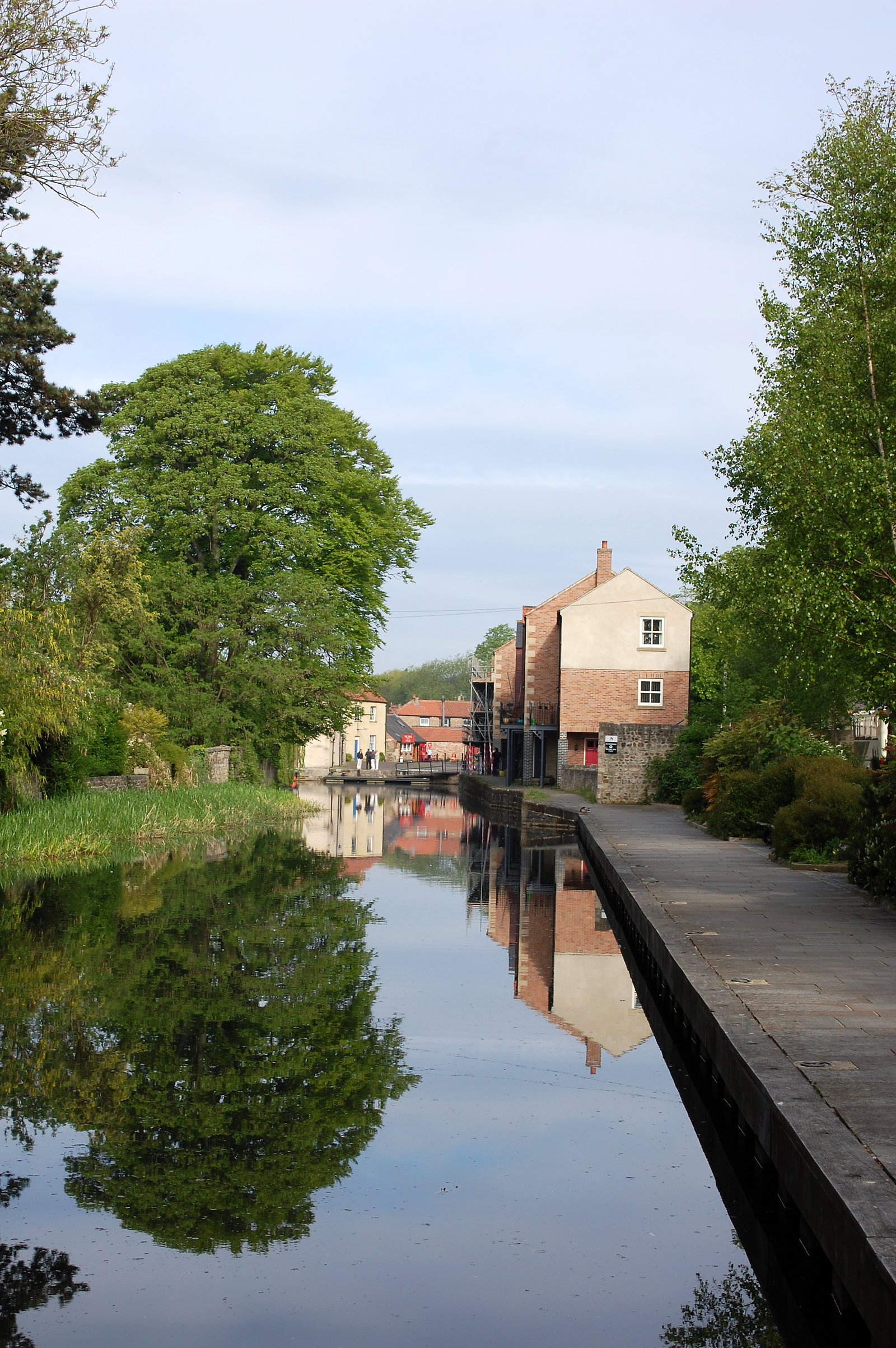 Ripon Canal Head In Yorkshire