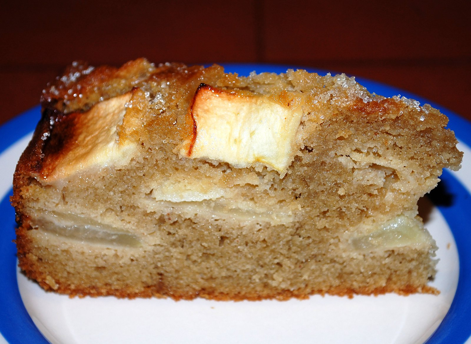 A Slice Of Rich Apple Cake