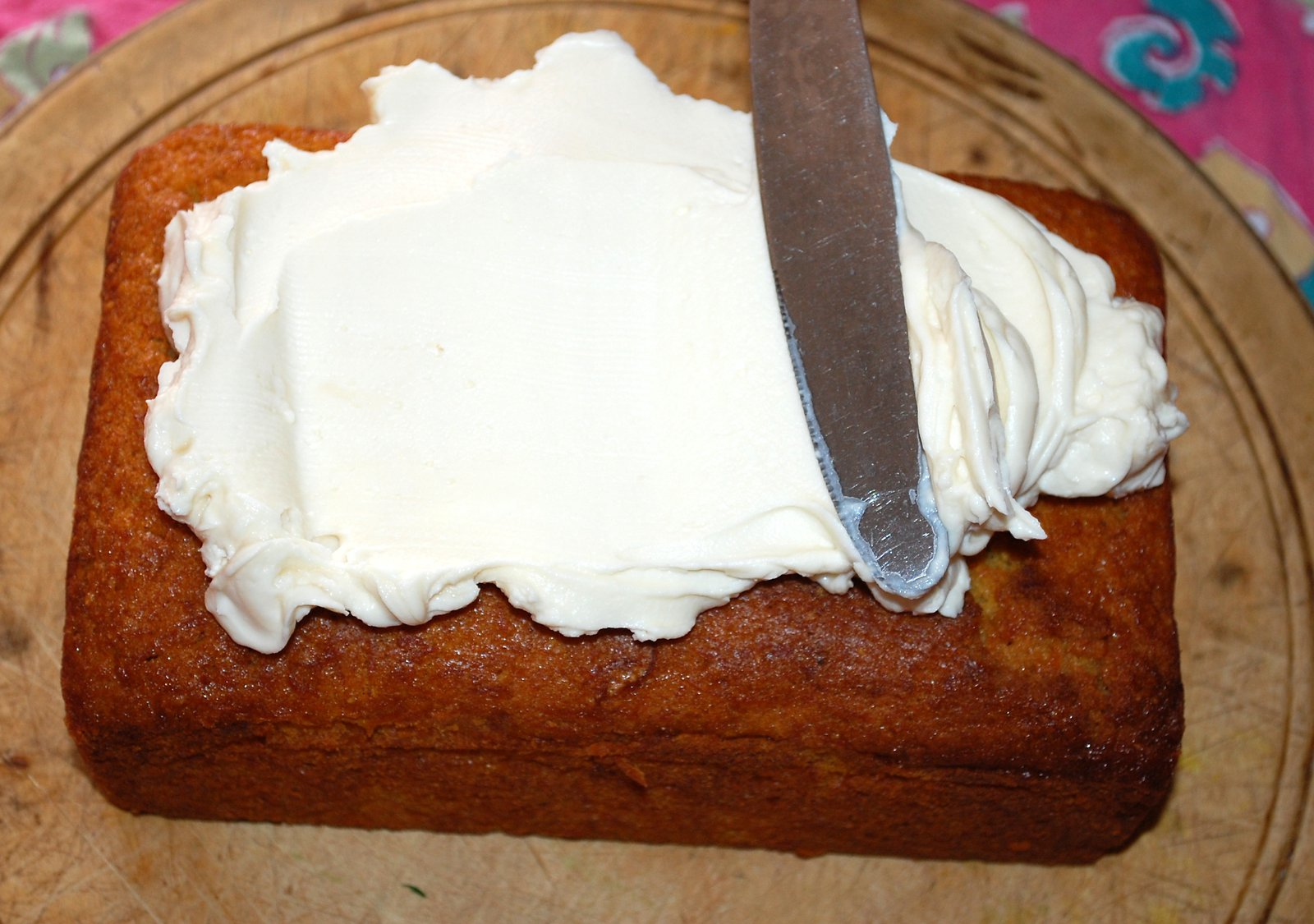 Spread The Mascarpone Icing Over The Carrot Cake