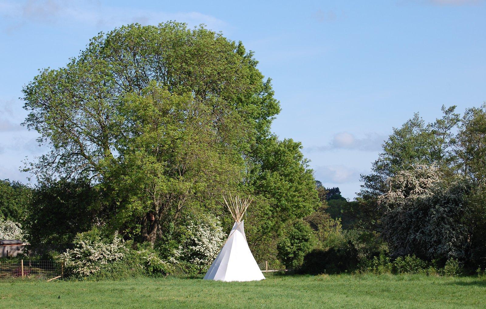 White Teepee Near North Bridge In Ripon