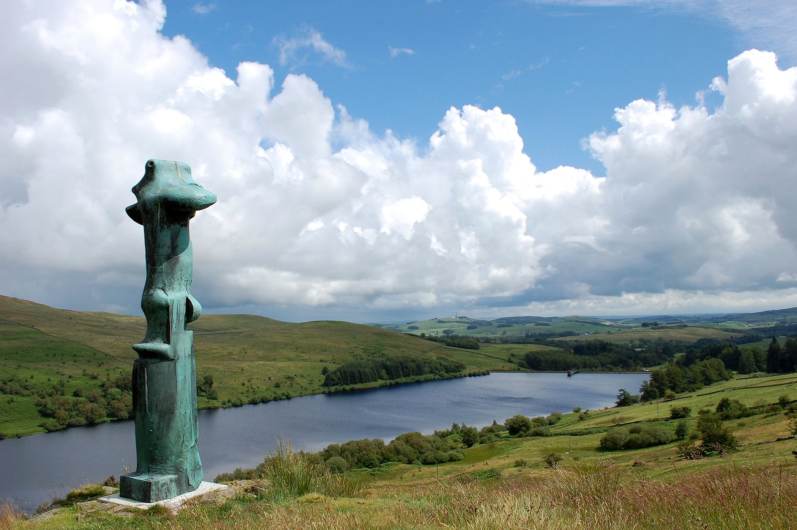 Henry Moore's Cross At Glenkiln Reservoir