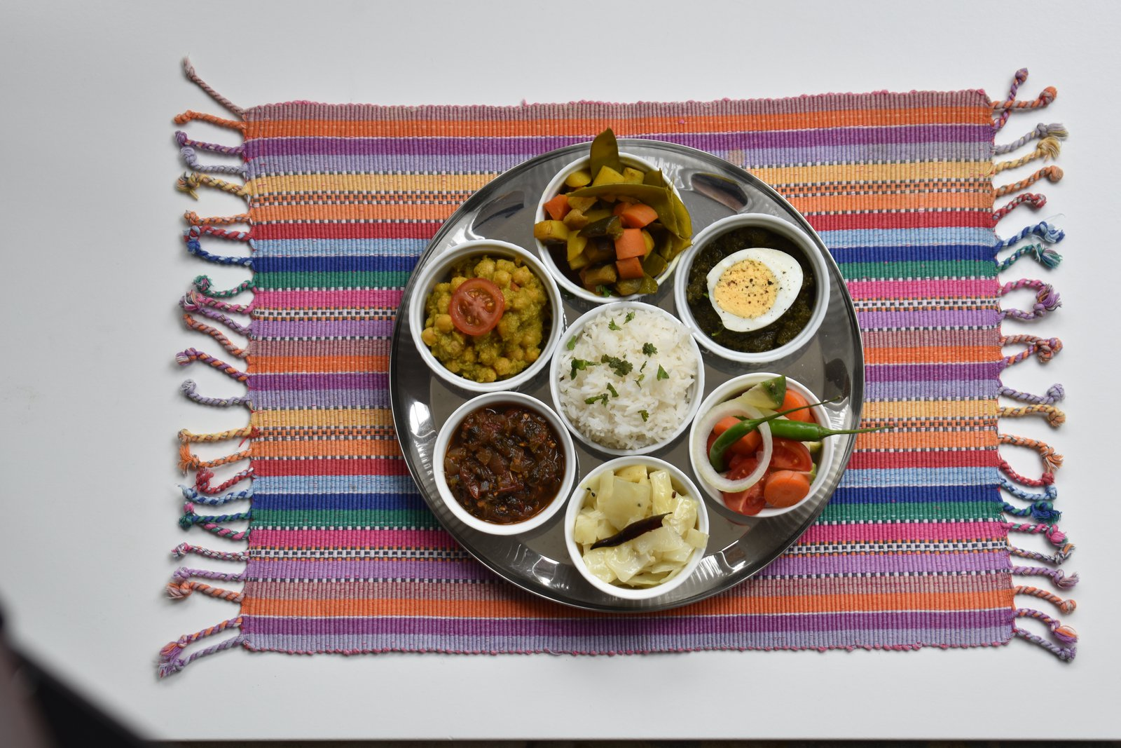 A classic Thali that Anna has recreated in her recipe book.