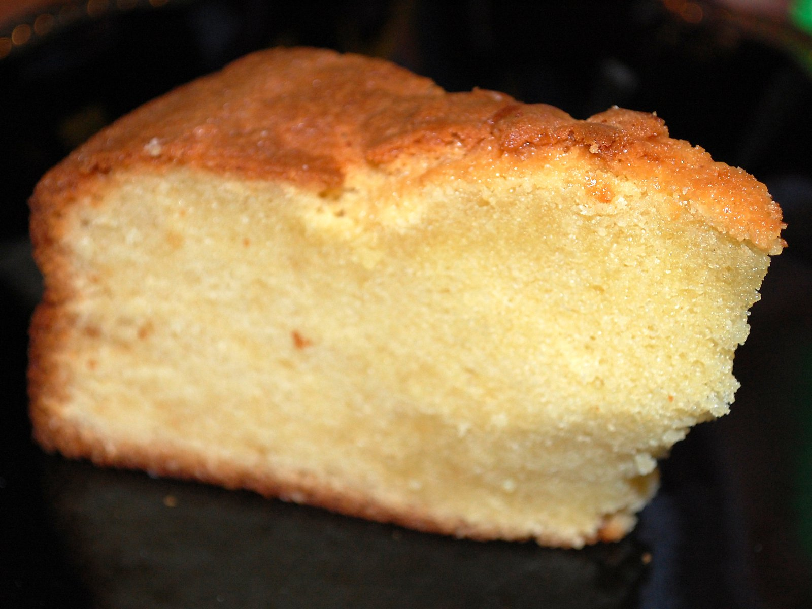 A Slice Of Home Made Almond Cake