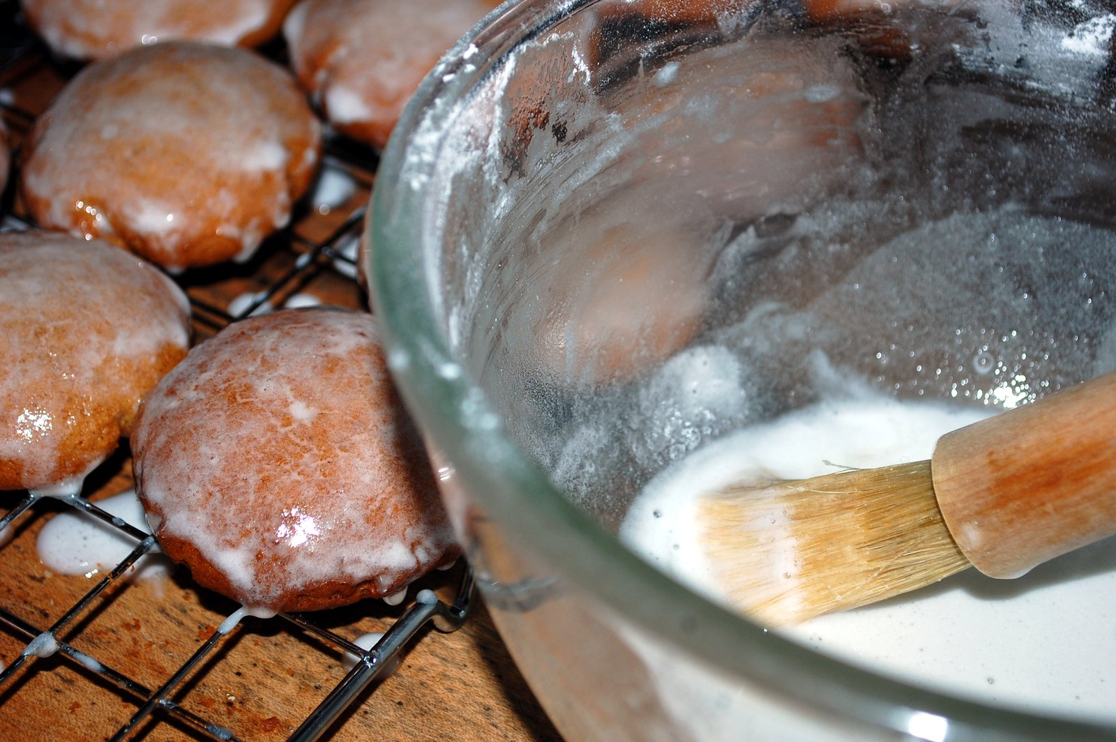 Brush The Lebkuchen With Glazing Icing