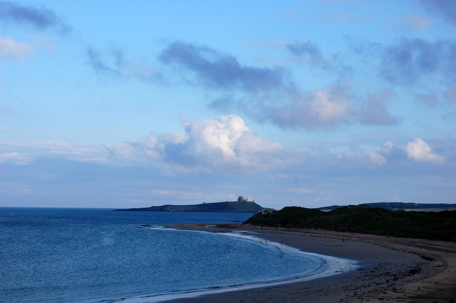 View Across Newton Haven To Dunstanburgh Castle