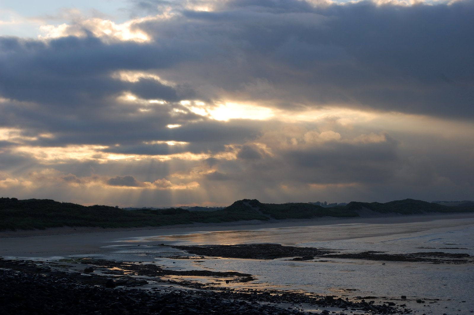 Sunset Over Beadnell Bay