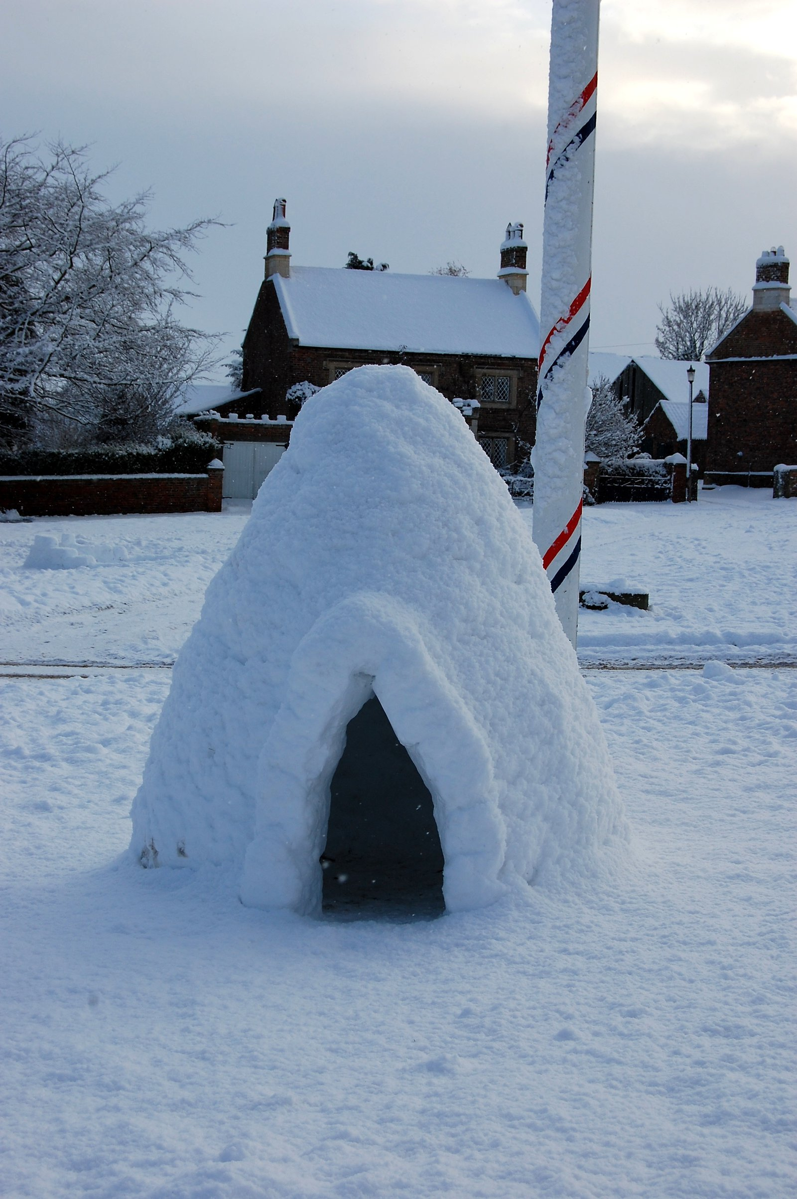 An igloo in North Yorkshire