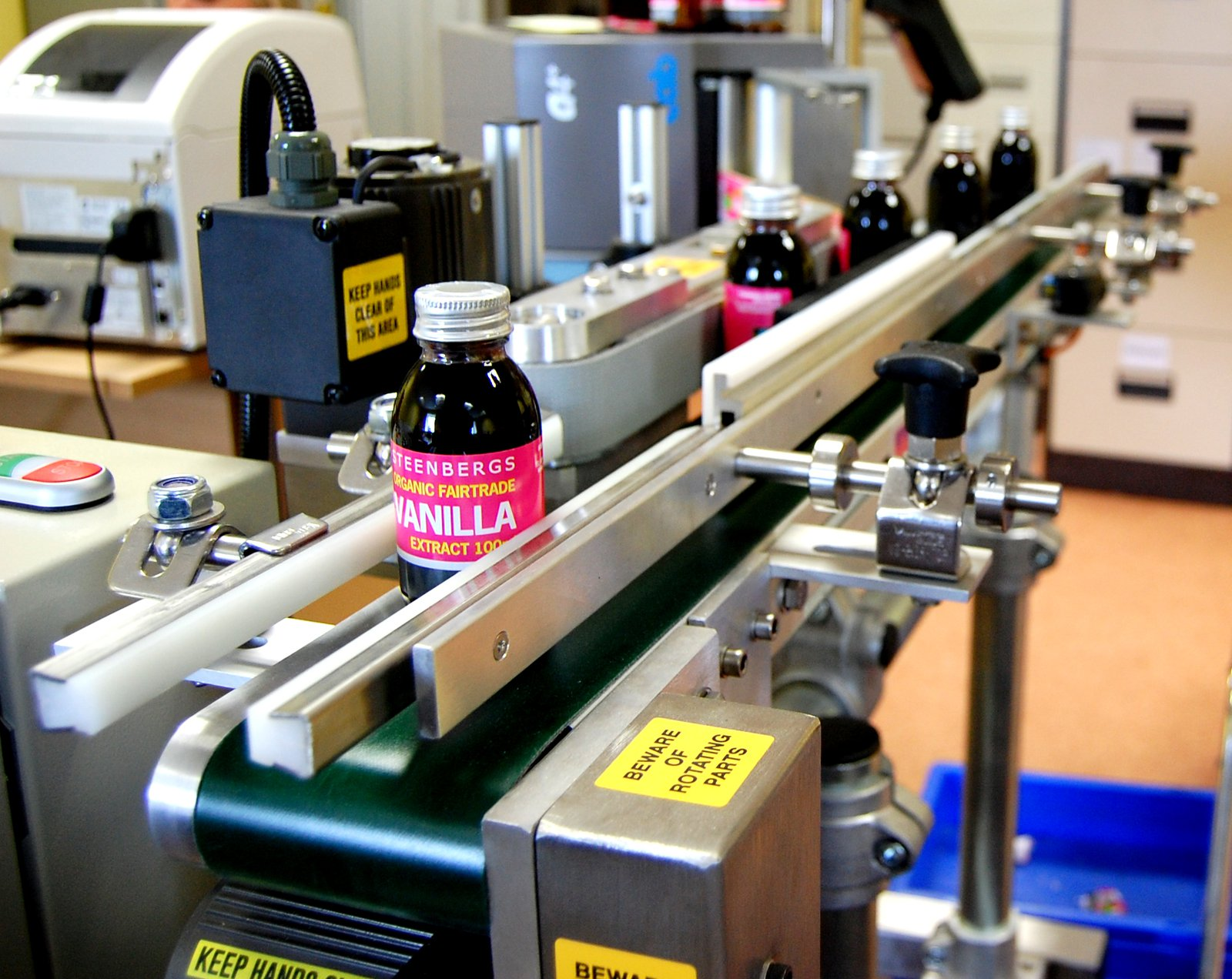 Steenbergs labelling machine the first machine to help us.