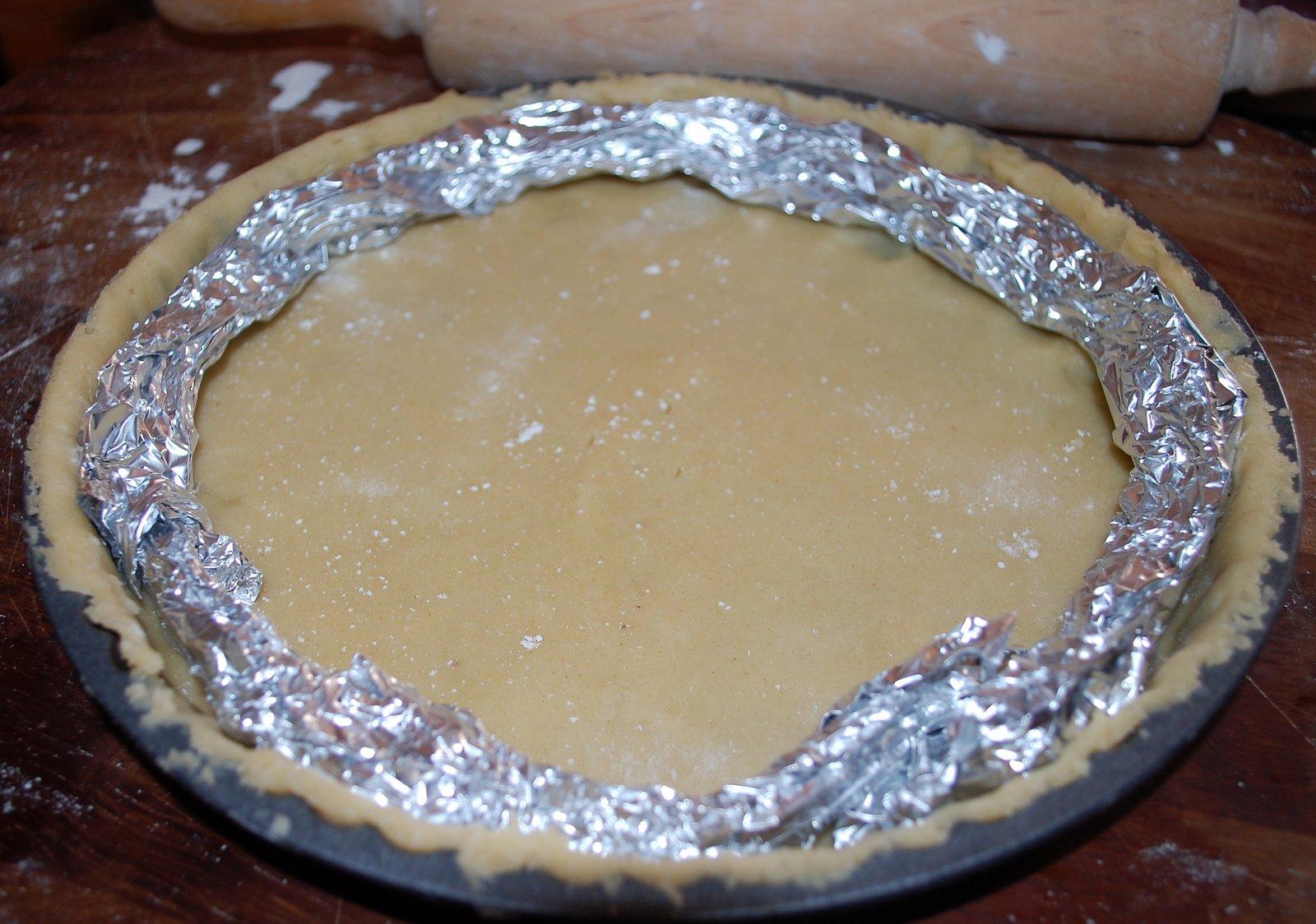 Sweet Pastry Dough Lining Tart Dish