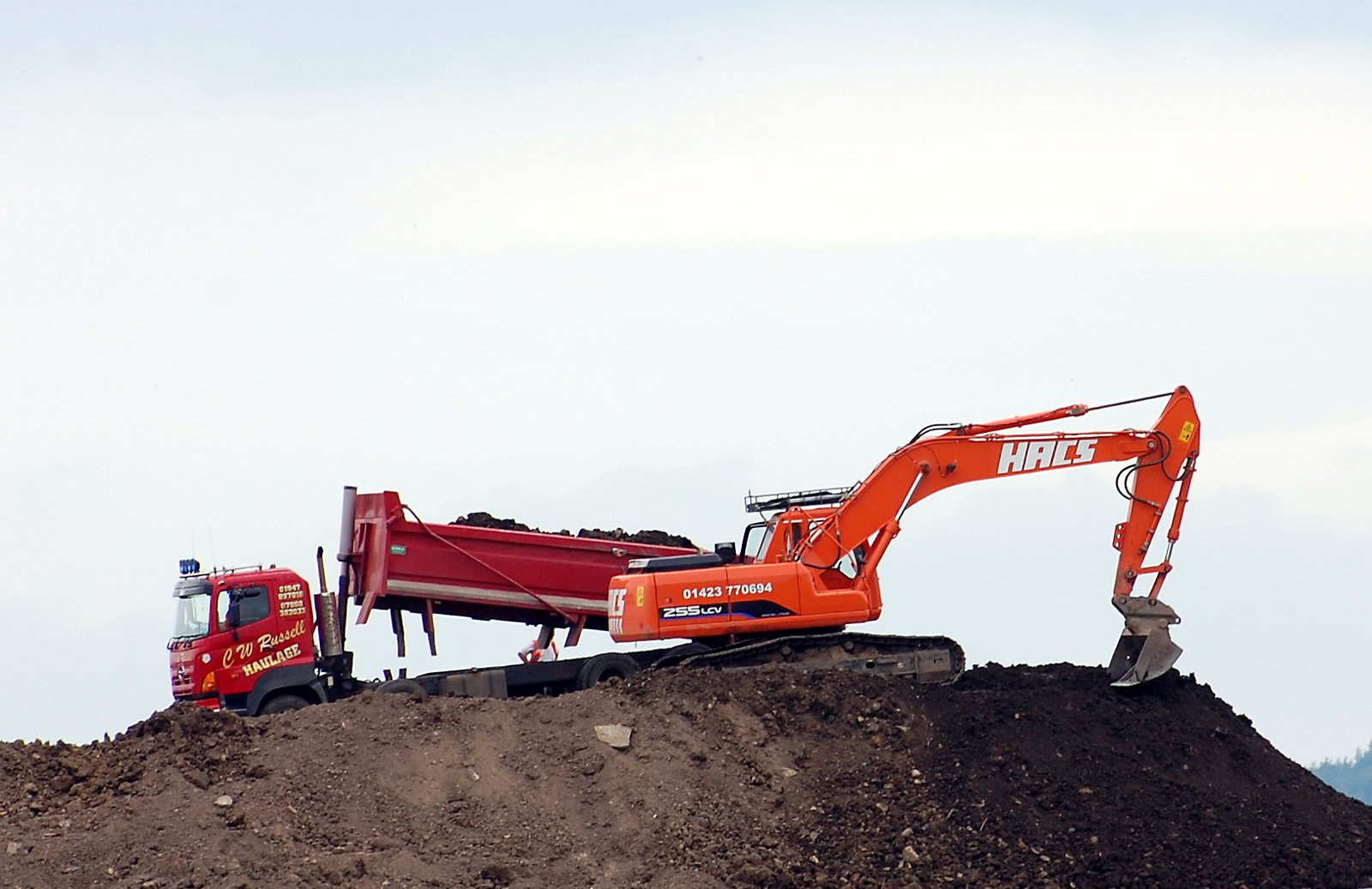 Diggers At West Tanfield Landfill Site