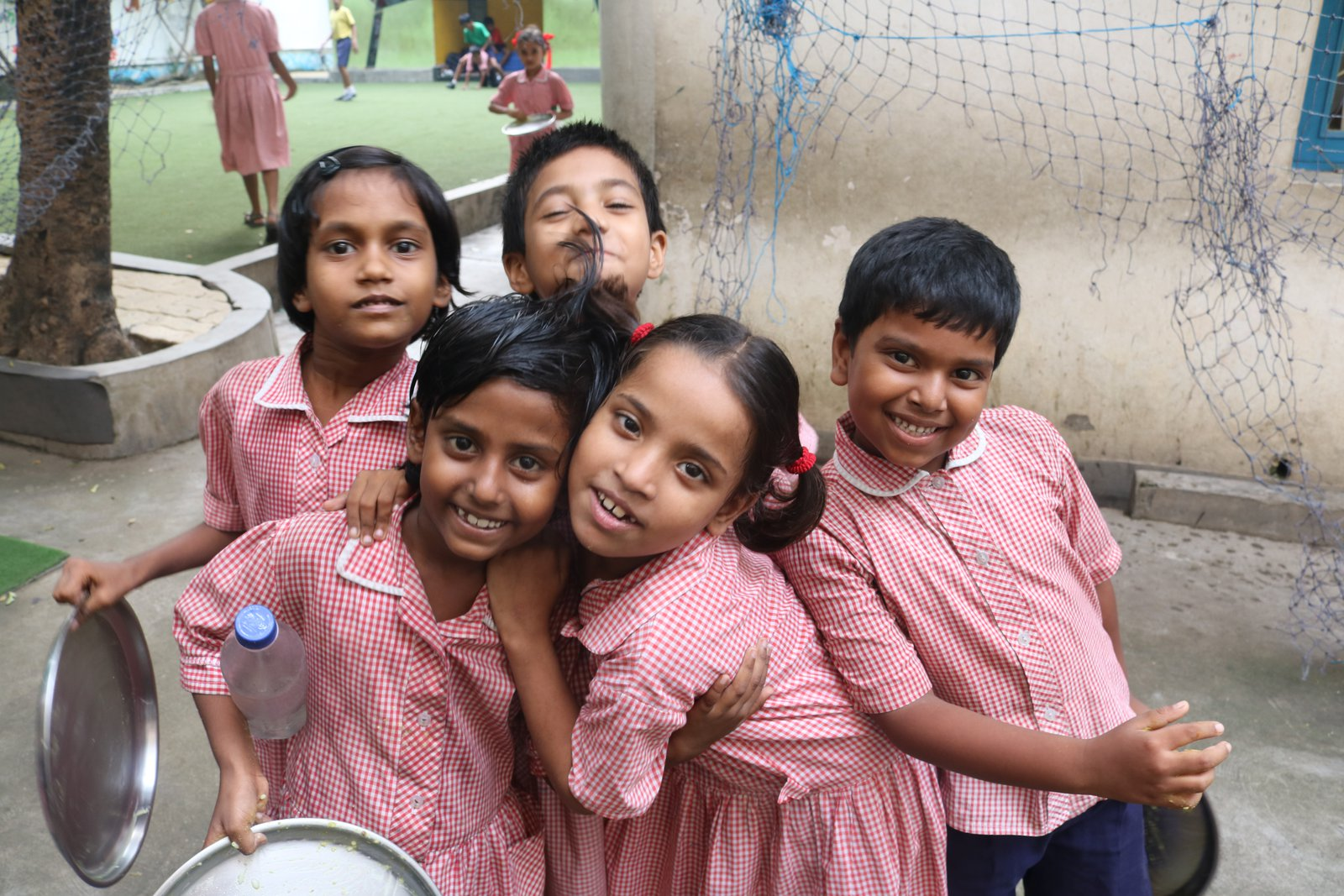 Some of the children being helped by the Future Hope Charity in Kolkata, India.