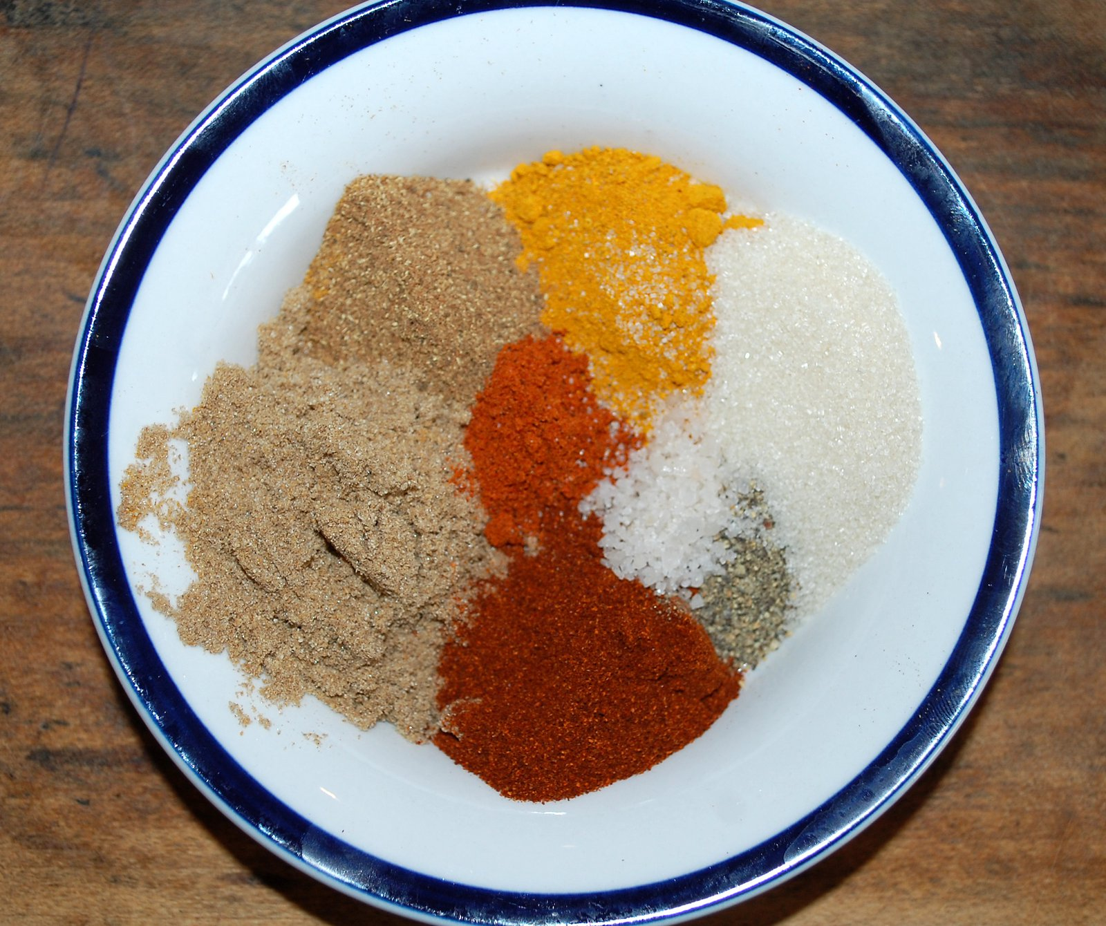 Korma Spices Measured Out