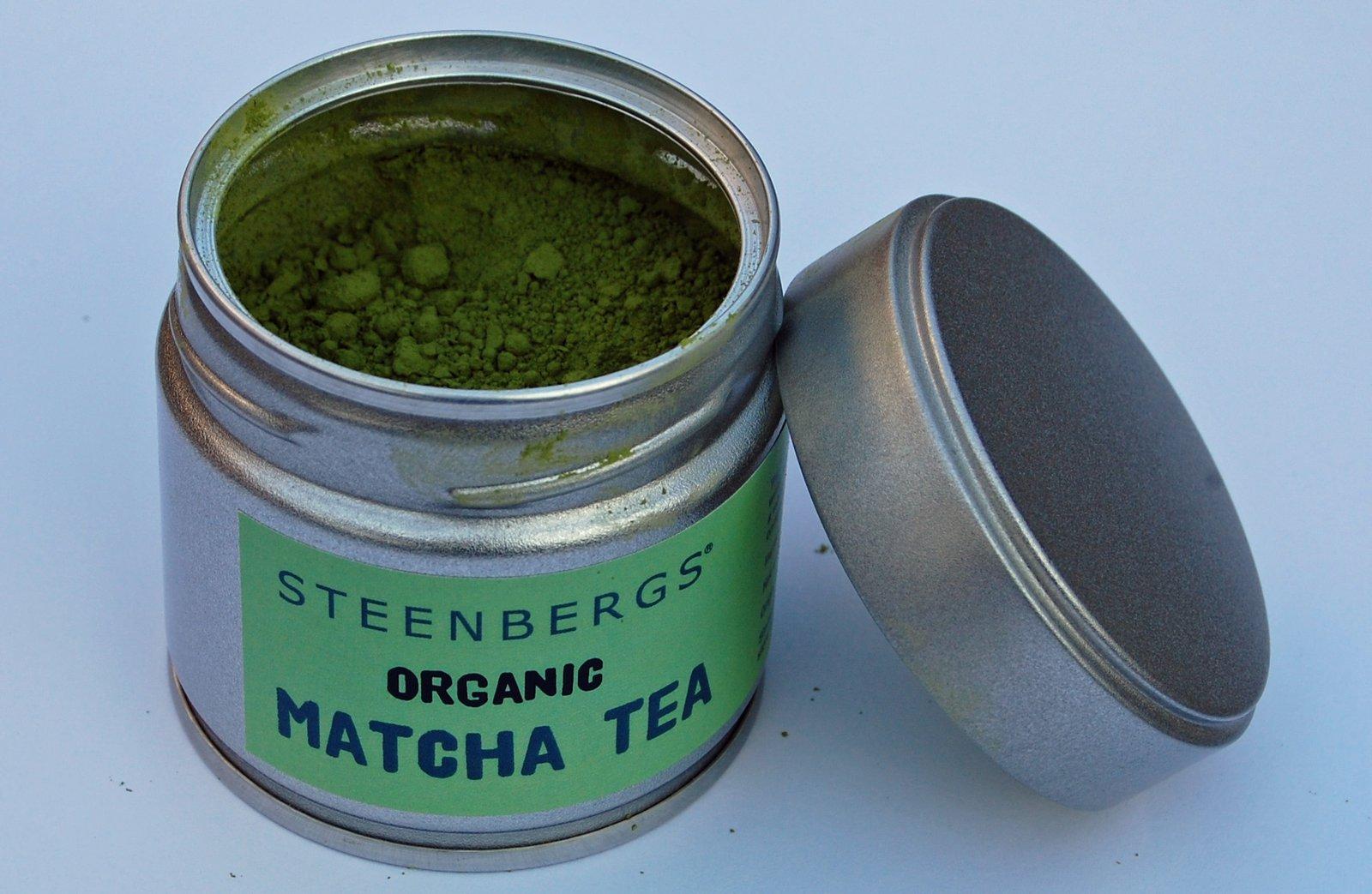 matcha tea open