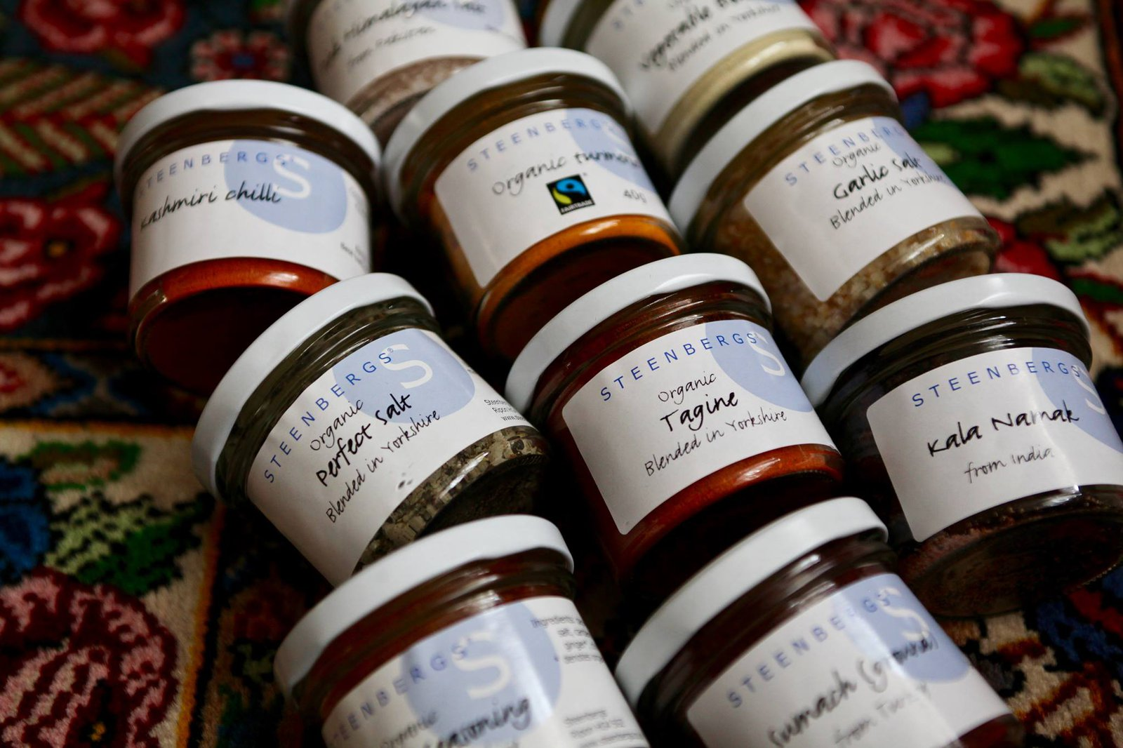 Steenbergs have a range of  over 500 organic spices, salt blends, Fairtrade spices.