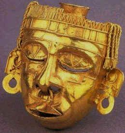 Aztec Gold Xipe Totep Mask
