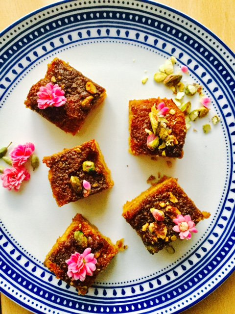 Yazdi Squares created by NikiBakes and featuring Steenbergs Organic Rose Water.
