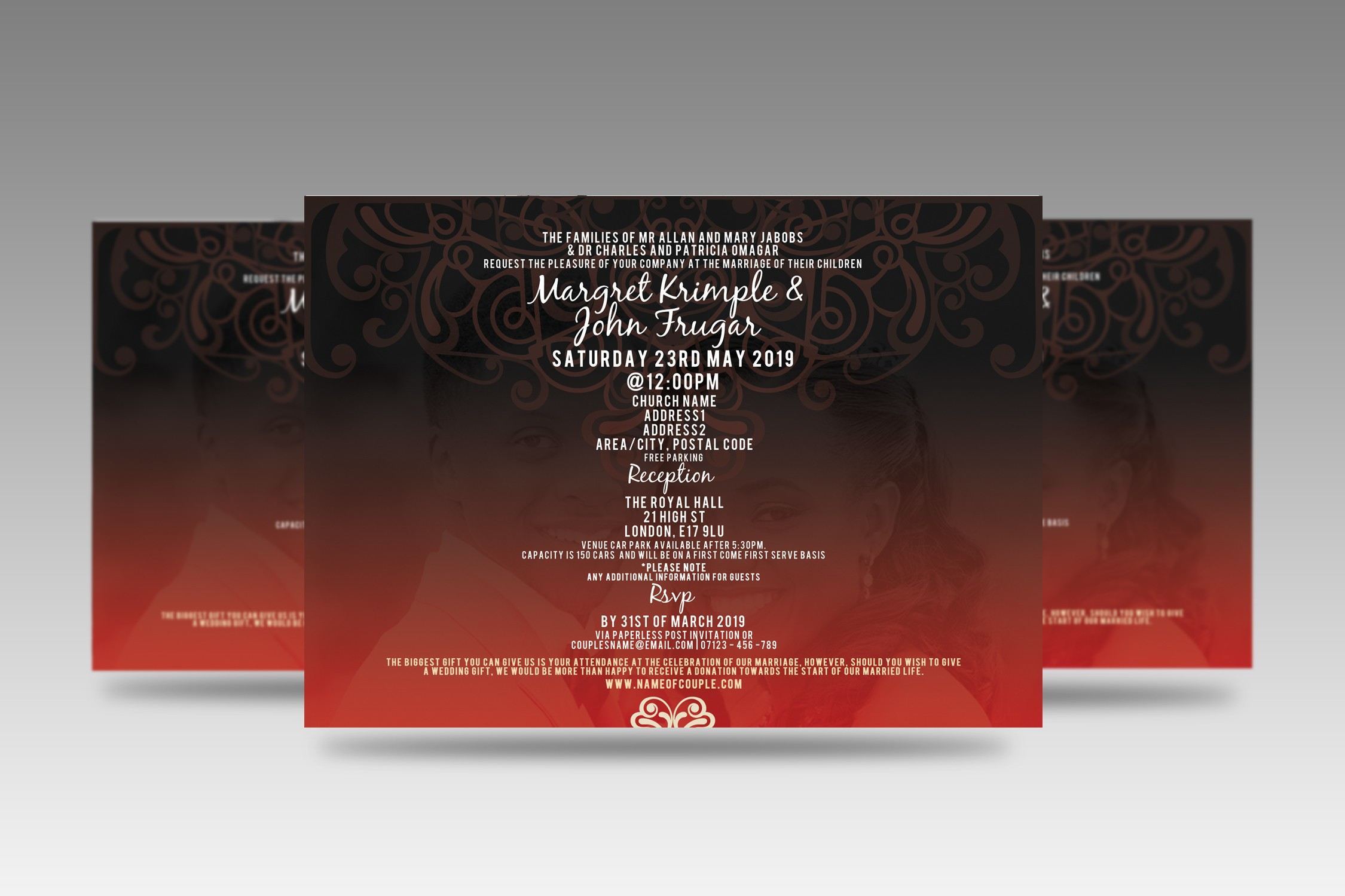 Red Gothic Invitation - icandystock.com