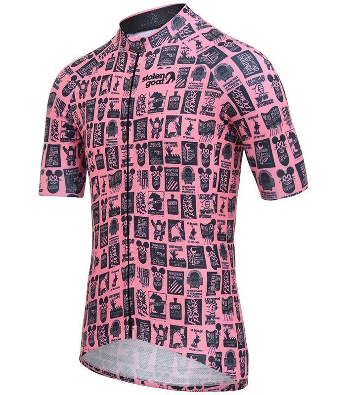 stolen goat unity pink cycling jersey