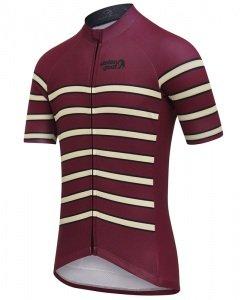stolen goat flex maroon cycling jersey