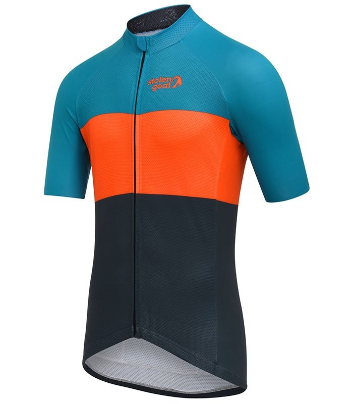 stolen goat industry brights cycling jersey