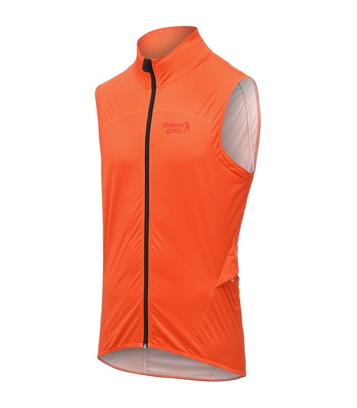 stolen goat mens bodyline orange gilet