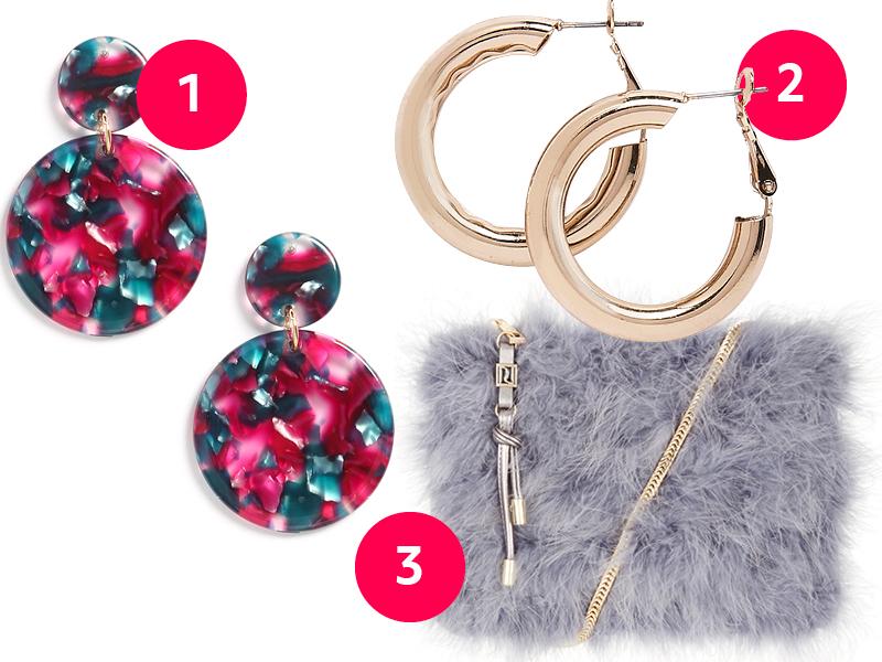 e823044e3 Primark Gold hoop earrings, £1.50 3. River Island Pastel faux fur bag, ...