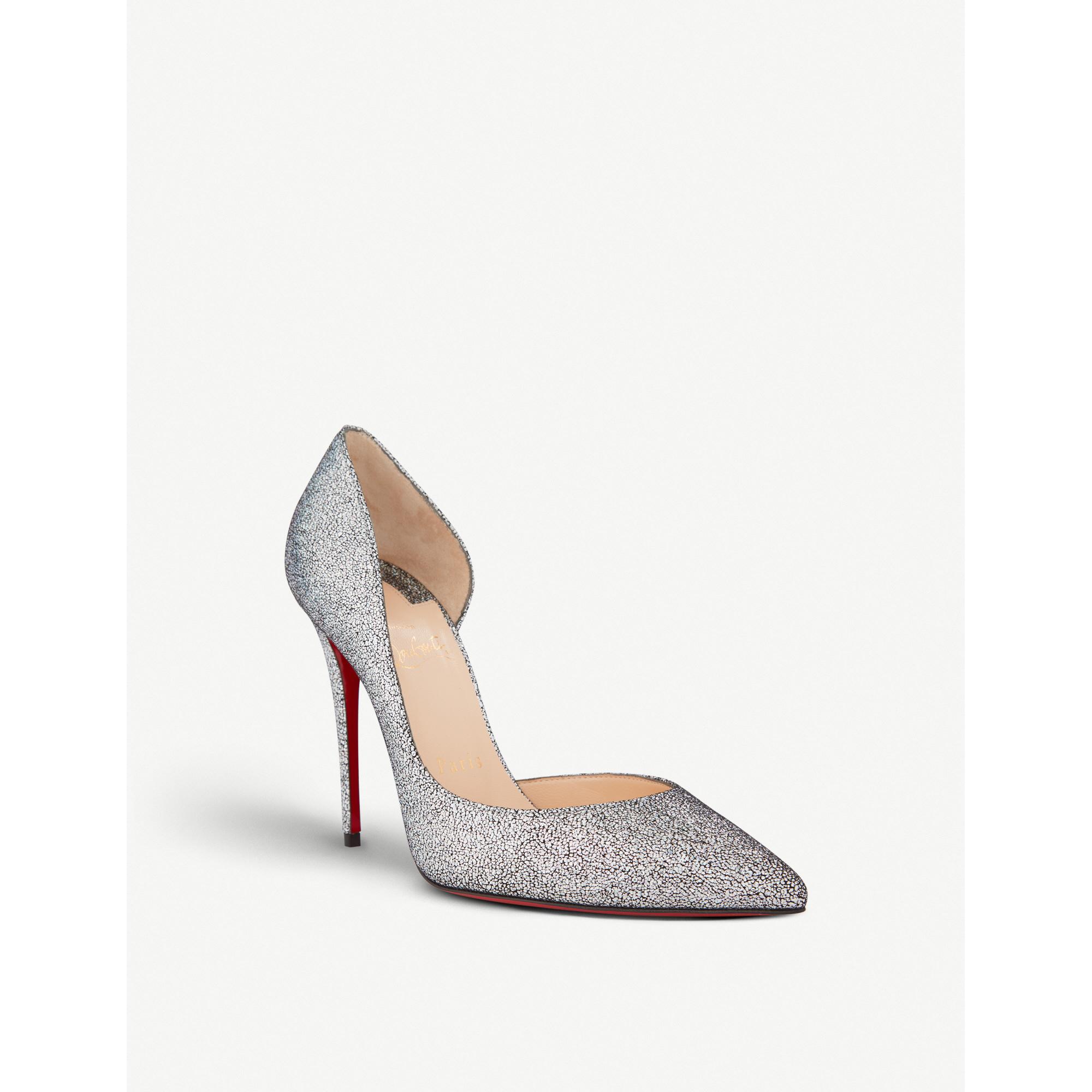 new styles 0a668 59300 CHRISTIAN-LOUBOUTIN-Iriza-100-nappa-mica-silver-£545 - Style ...