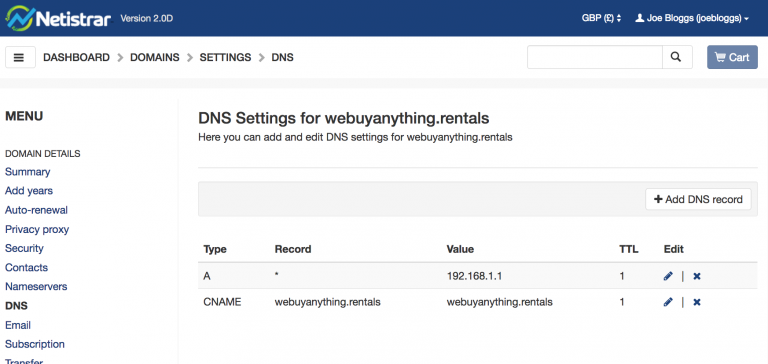 Cloudflare DNS - Netistrar Support