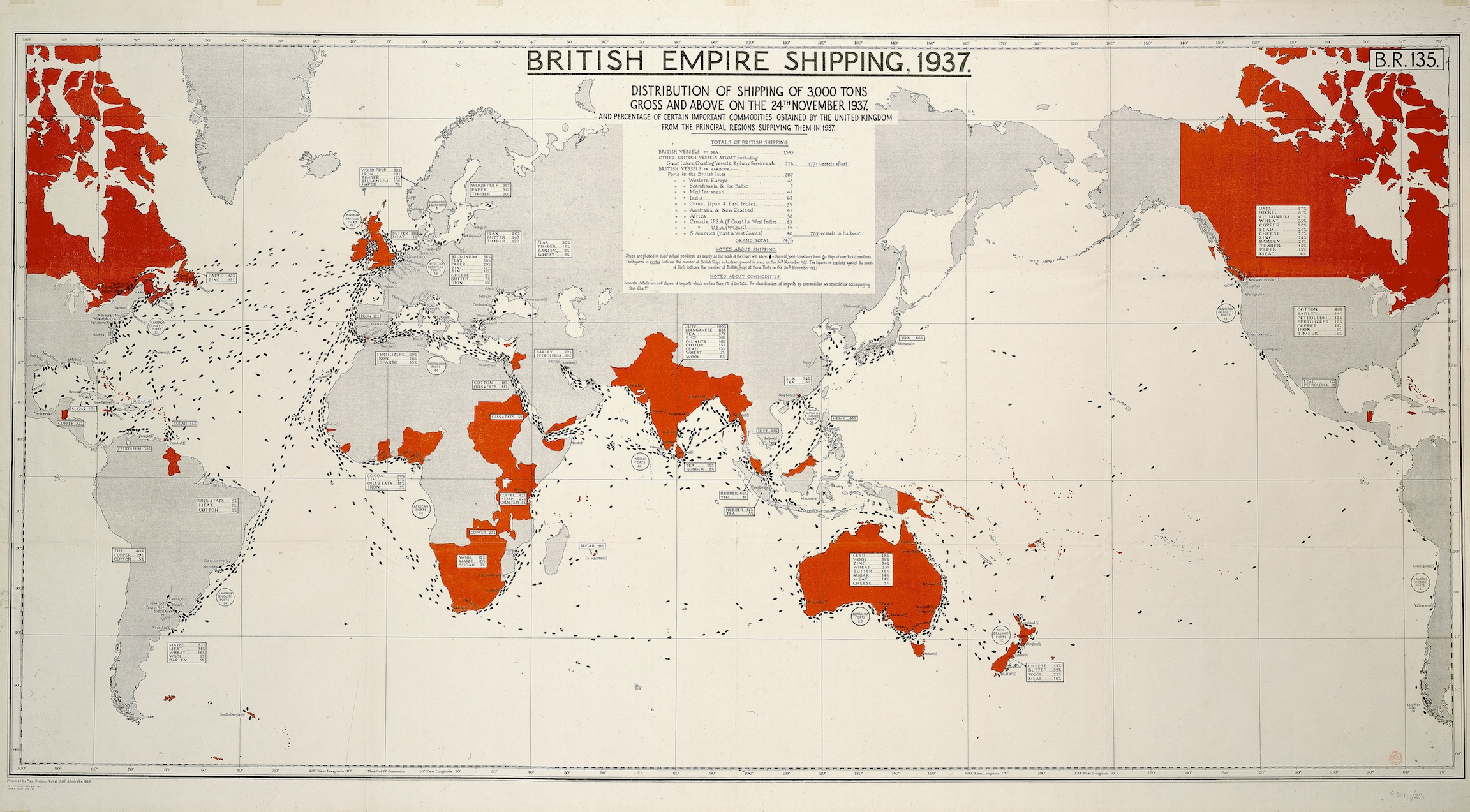 British Empire Map Murals of British Empire Shipping Map by National Maritime Museum  British Empire Map