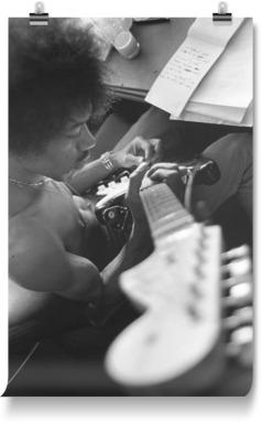 Jimi Hendrix Rehearsing
