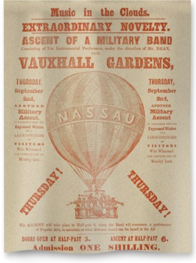 Balloon ascent of a military band'