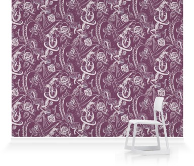 Mermaid, Cherub and Chair Violet
