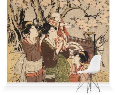 Ladies and Children Watching Archery