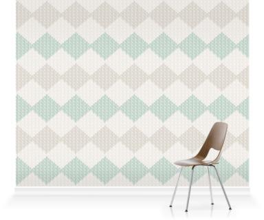 Kniited Room V Mint Tiled