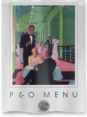 P&O Gala Night menu from 1933