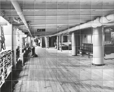 Promenade deck of P&O Balranald