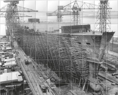 Oriana under construction at  Barrow-in-Furness