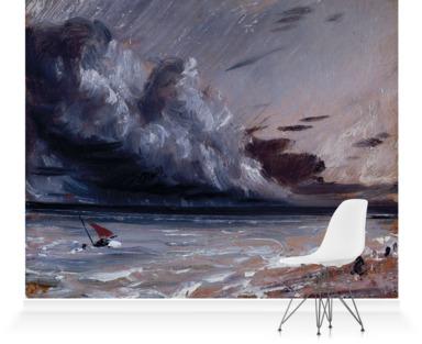 Coast Scene with Stormy Sea