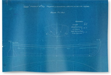 Lines and profile blueprint plan, I