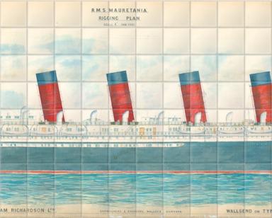 Profile plan of RMS 'Mauretania'
