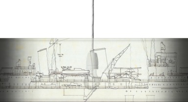 Ship plan of Royal Navy light cruiser HMS 'Belfast'
