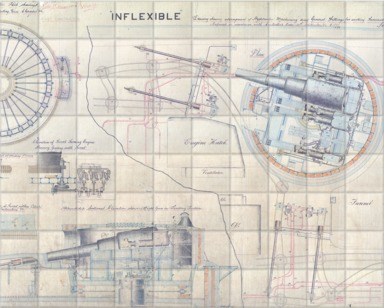 Turrent plan for HMS 'Inflexible'