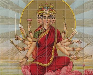 Gaitri - The Gayatri hymn personified as a Goddess