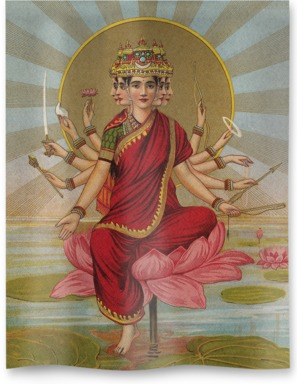 Gaitri - The Gayatri hymn personified as a Goddess