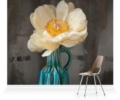 White Petals, Blue Vase