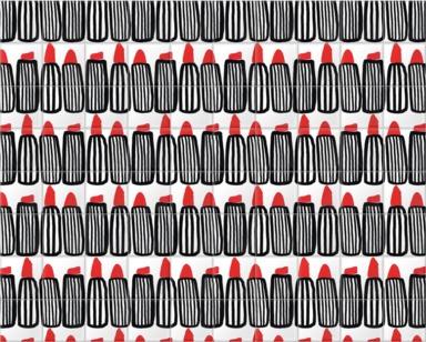 Black and White Lipstick