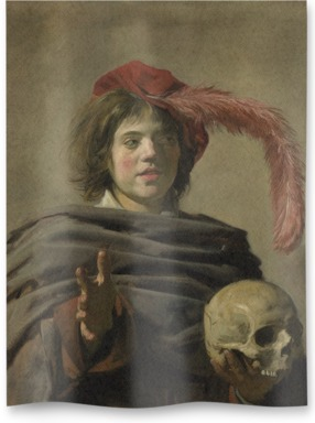 Young Man holding a Skull